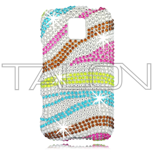 LG P505 Phoenix / P506 Thrive Full Diamond Bling Phone Shell (Leopard ...